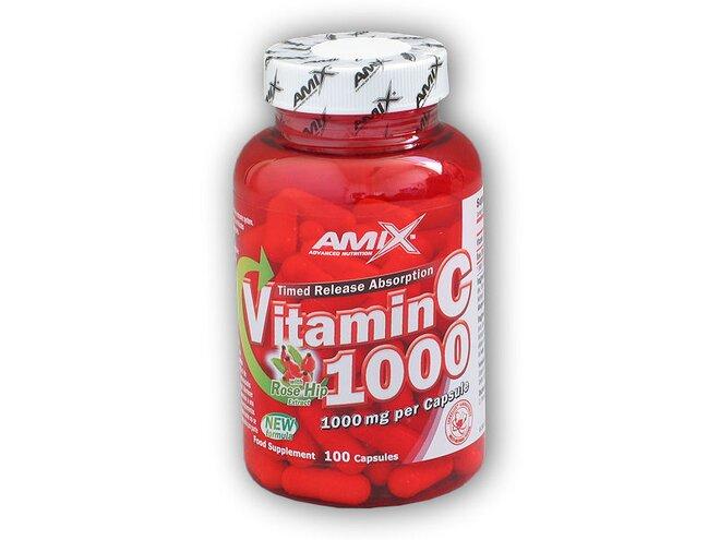 Vitamin C 1000 mg + Rose Hips 100 kapslí