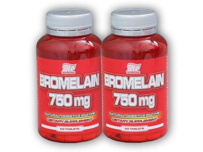 2x Bromelain 750 mg 60 tablet