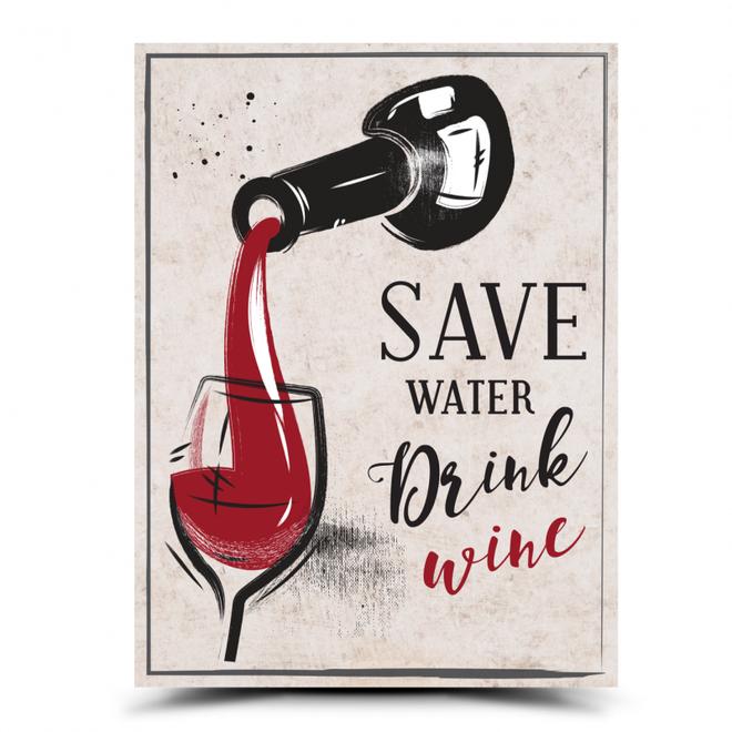 Dekorační cedulka: Save water