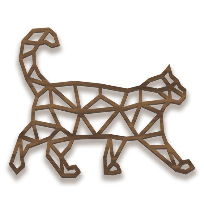 Dřevěný obraz - kočka