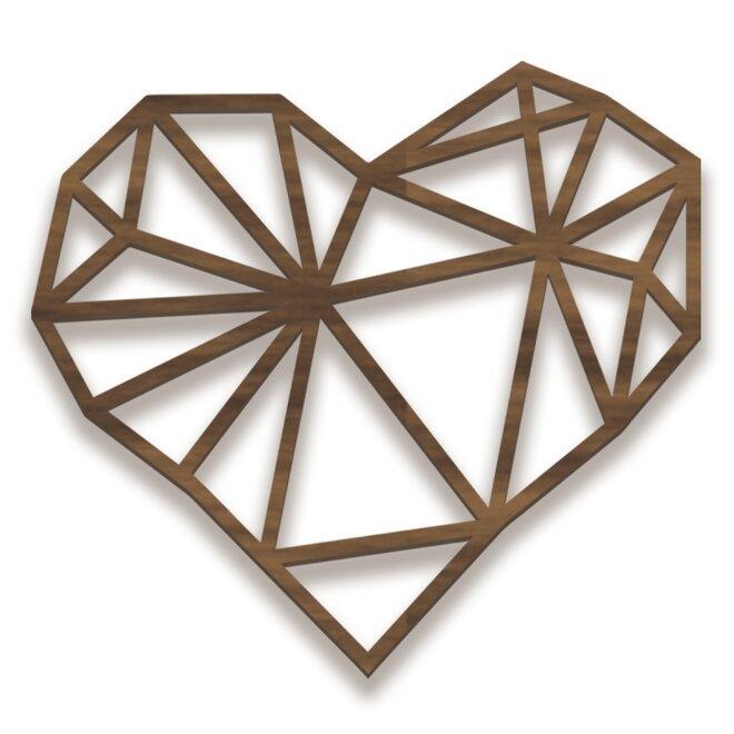 Dřevěný obraz - srdce
