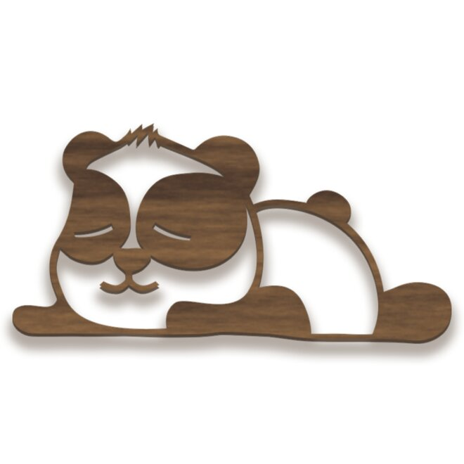Dřevěný obraz - panda