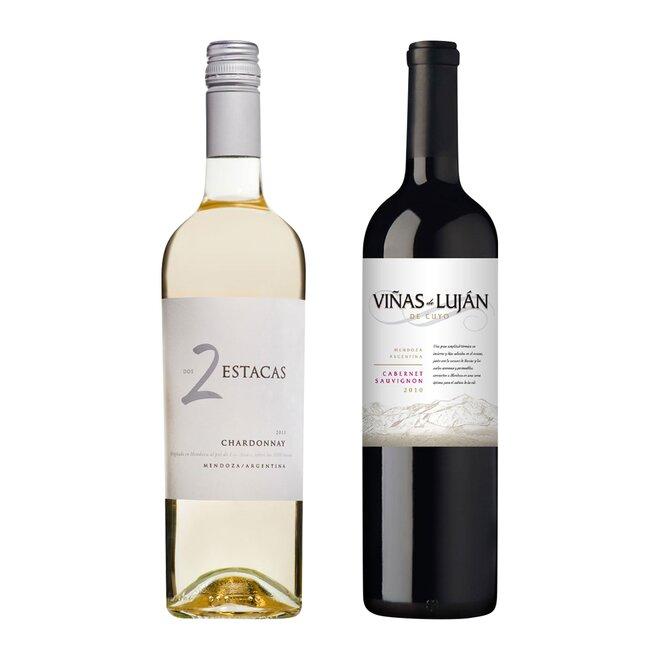 Set bílého a červeného argentinského vína