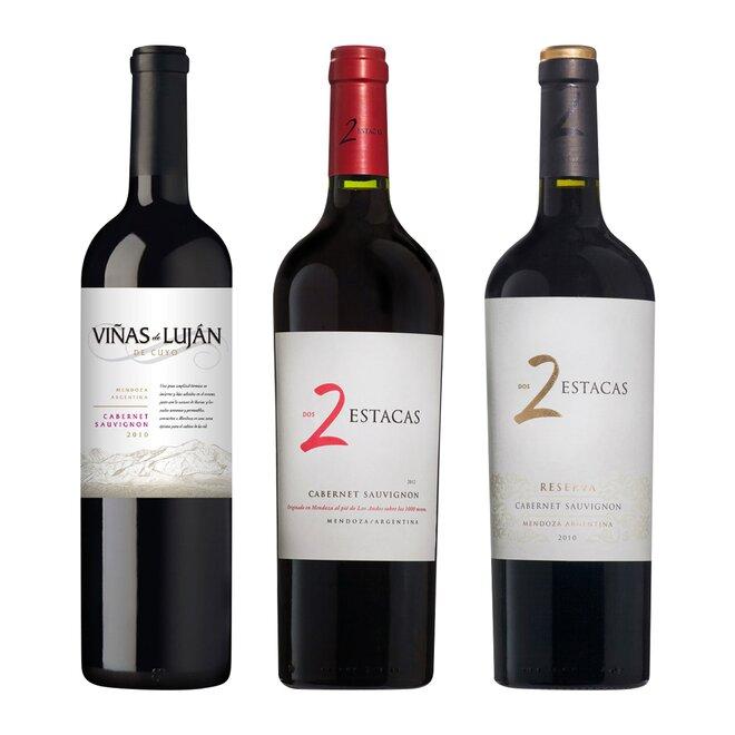 Set tří argentinských vín Cabernet Sauvignon