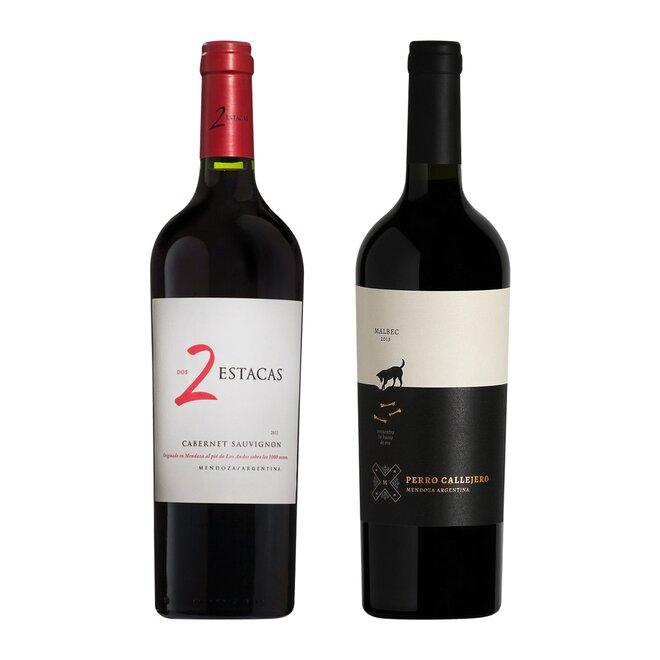 Set dvou červených vín Cabernet Sauvignon a Perro Callejero