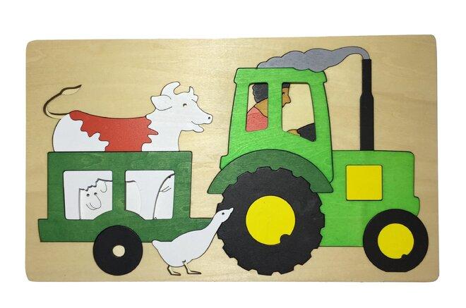 Vícevrstvé puzzle - Traktor