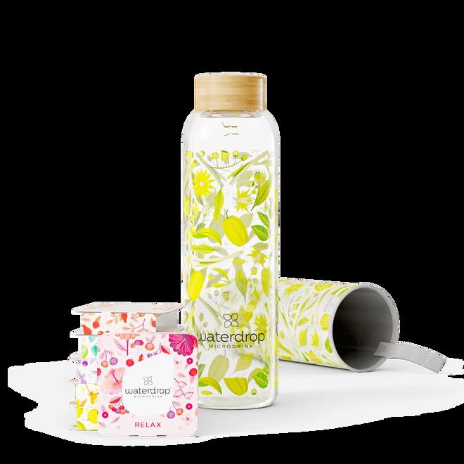 Ochutnávkový set 18 kapslí se skleněnou lahví Zen (600 ml)