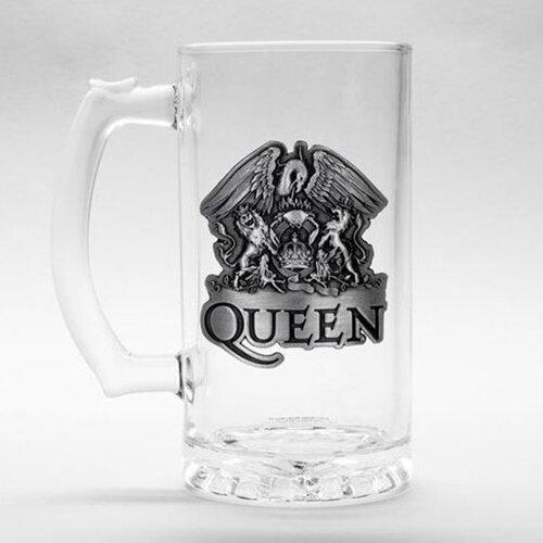 Skleněný korbel Queen