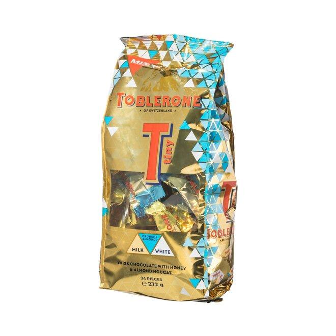 Mix bonbónů: čokoládové s medem a mandlemi v mléčné nebo bílé čokoládě, 272 g