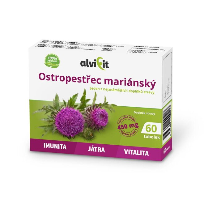 Ostropestřec mariánský 450 mg (60 kapslí)