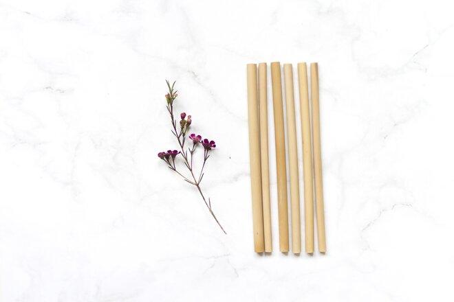 Bambusová brčka – 6 ks