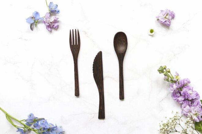 Vidlička, lžíce a nůž - 3 ks