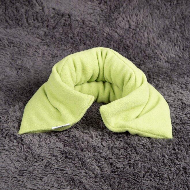 Nahřívací polštář, zelený