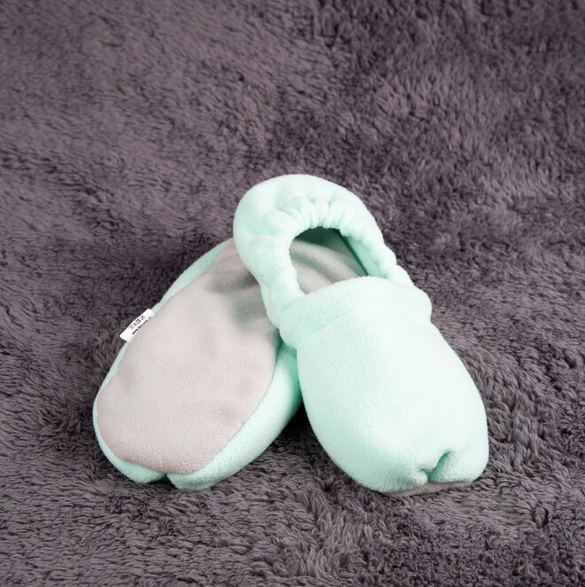 Nahřívací papuče, tyrkysovo-šedé