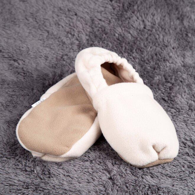 Nahřívací papuče, béžovo-hnědé