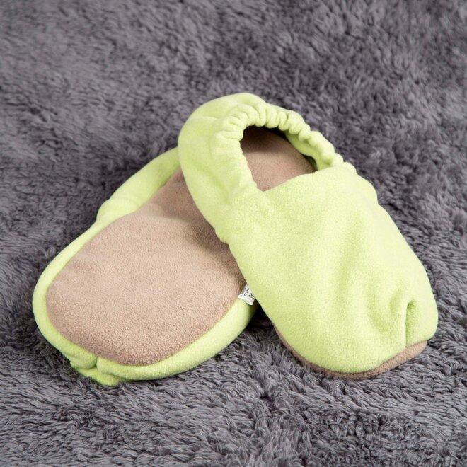 Nahřívací papuče, zeleno-hnědé