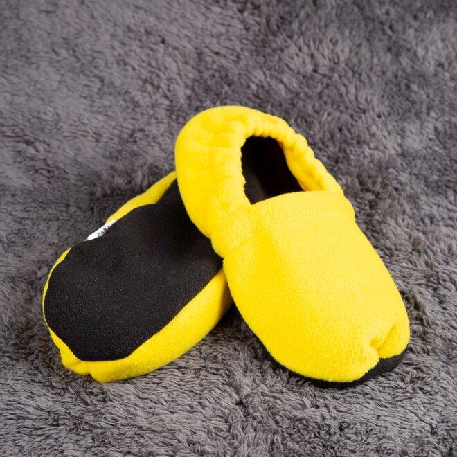 Nahřívací papuče, zářivě žluté a černé