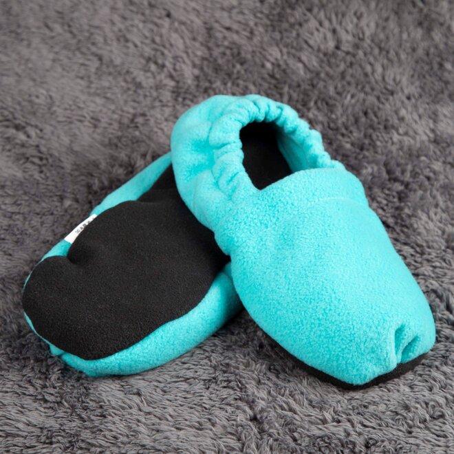 Nahřívací papuče, tmavě tyrkysové