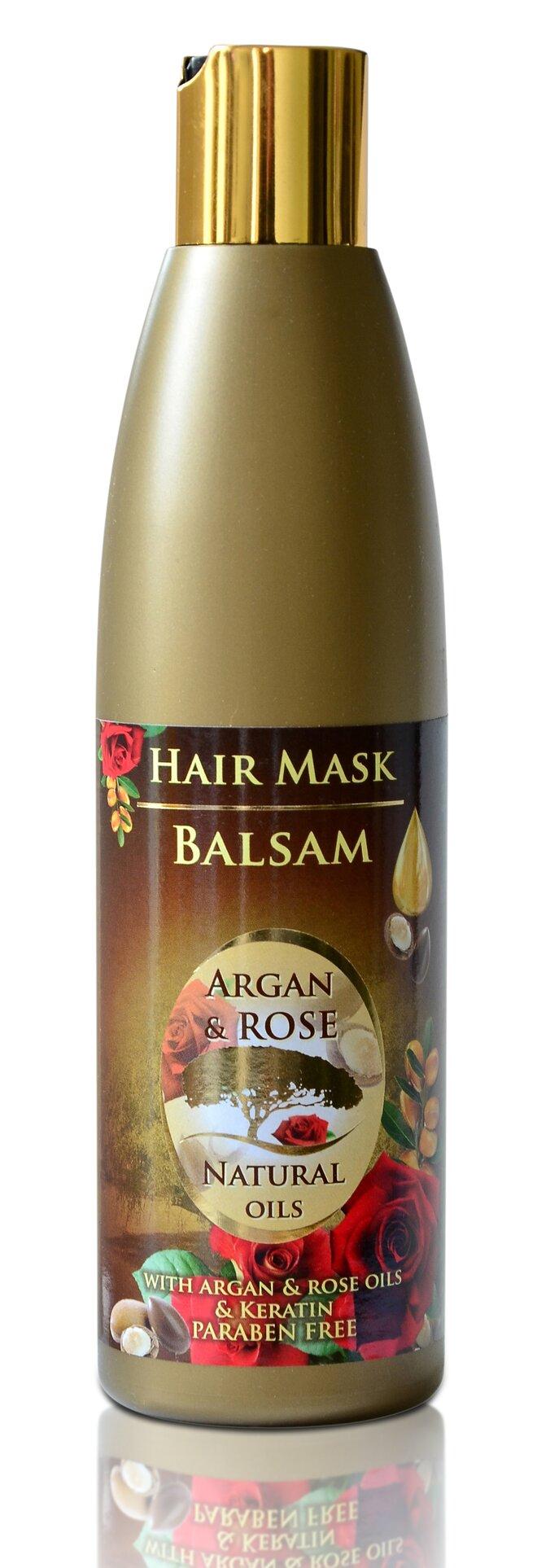 Balzám na vlasy Argan & Rose Natural Oils, 250 ml