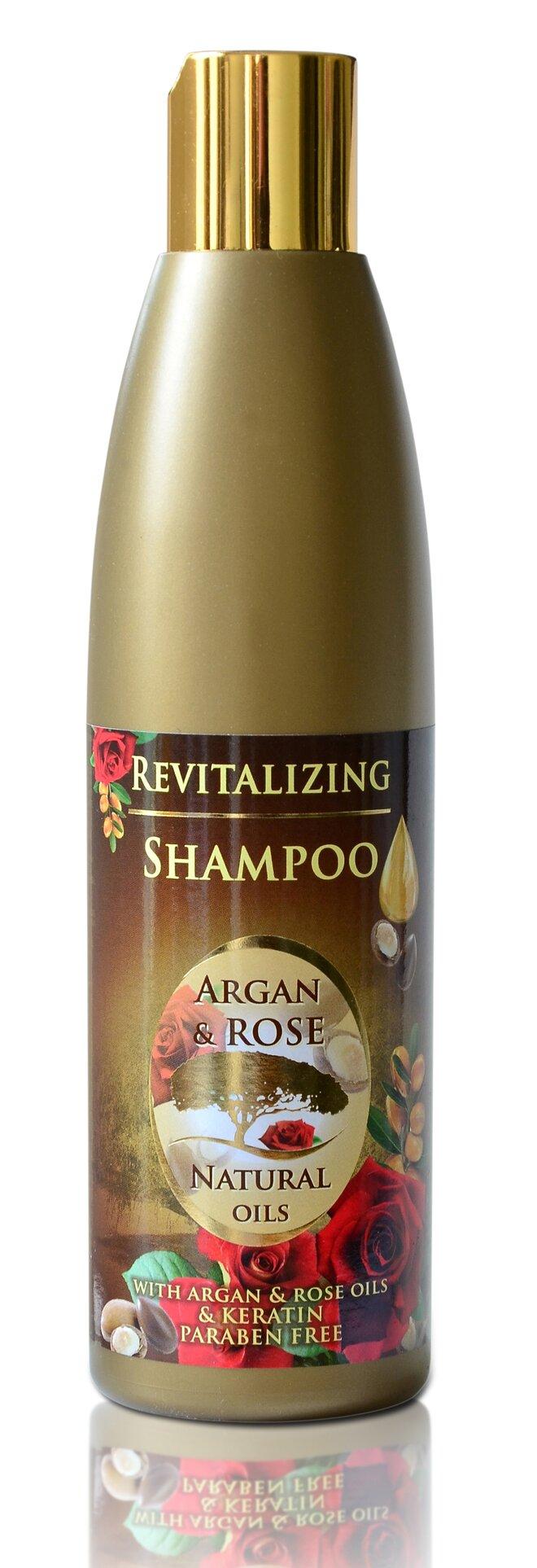 Šampon na vlasy Argan & Rose Natural Oils, 250 ml
