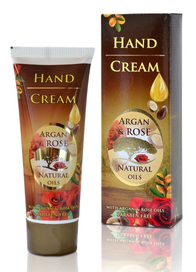 Krém na ruce Argan & Rose Natural Oils, 75 g