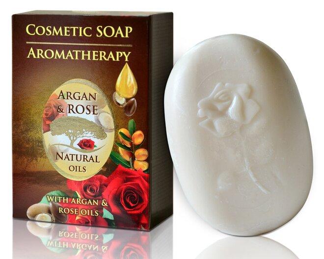 Mýdlo Argan & Rose Natural Oils, 100 g