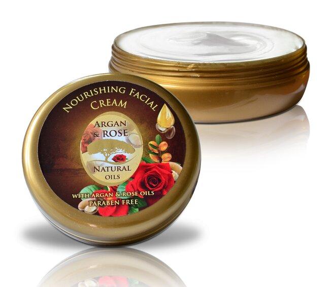 Pleťový krém Argan & Rose Natural Oils, 150 ml