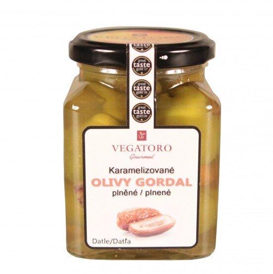 Olivy Gordal karamelizované, plněné datlí, 300 g