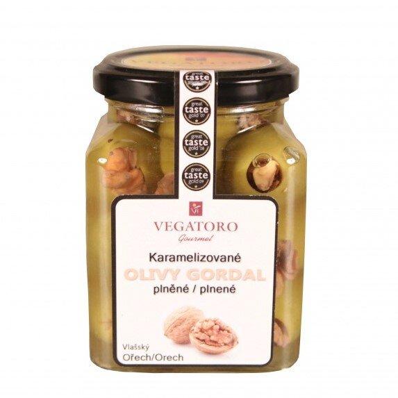Olivy Gordal karamelizované, plněné vlašským ořechem, 300 g