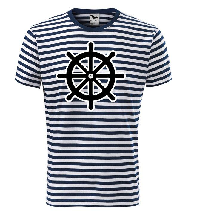 Vodácké tričko pruhované/motiv kormidlo