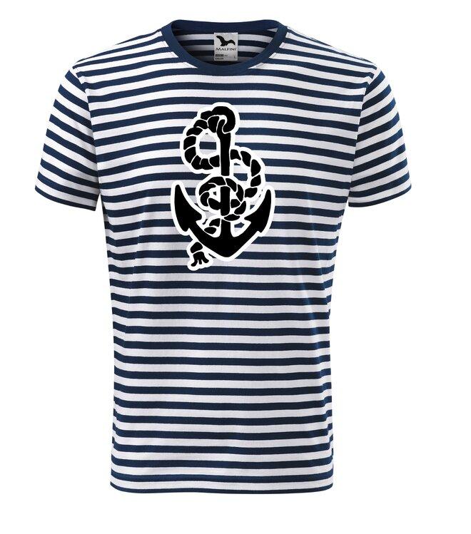 Vodácké tričko pruhované/motiv kotva s lanem