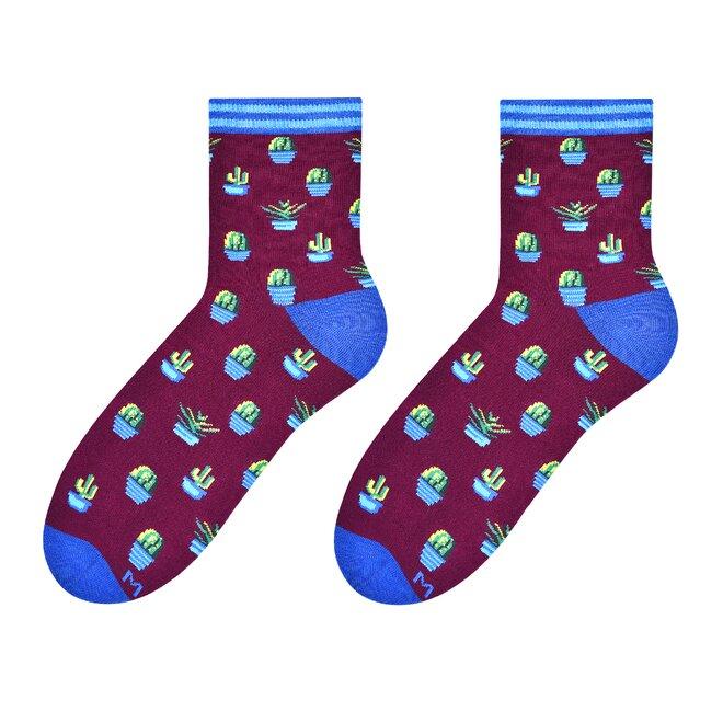 Dámské vysoké ponožky - kaktus