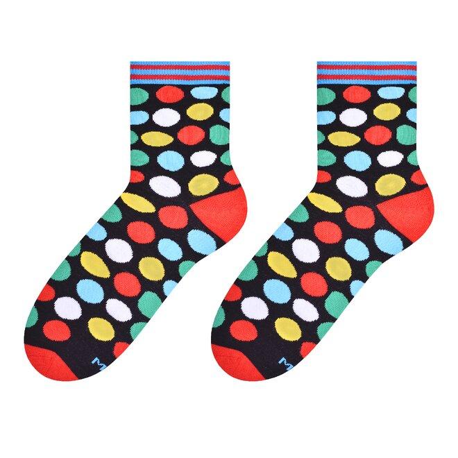 Dámské vysoké ponožky s puntíky