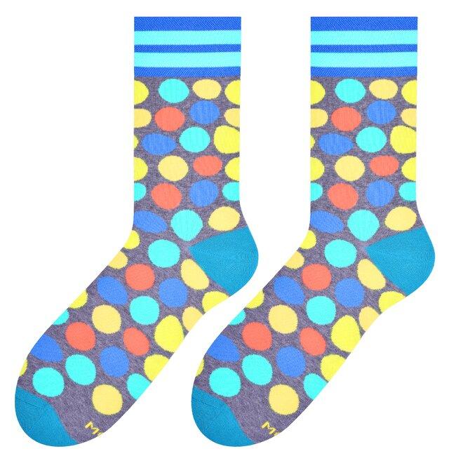 Pánské vysoké ponožky s puntíky