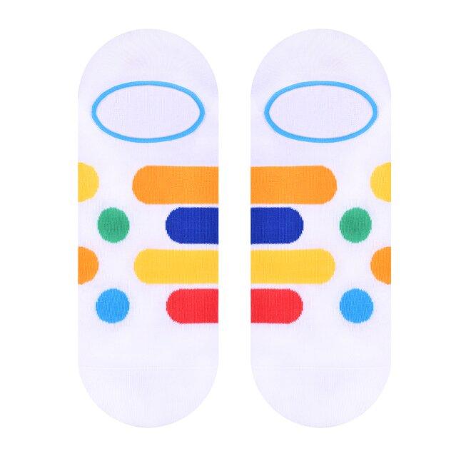 Dámské nízké ponožky - proužky a tečky