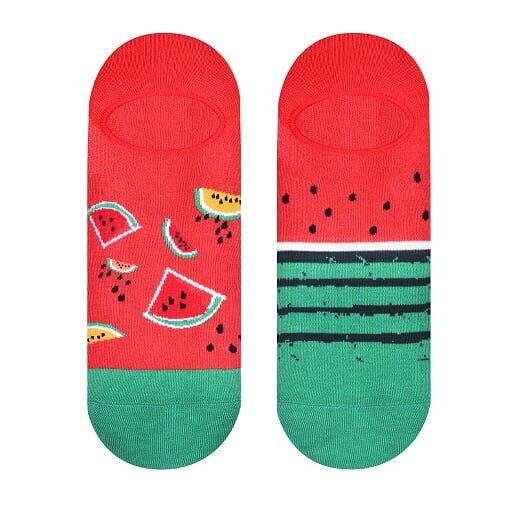 Dámské nízké ponožky - meloun