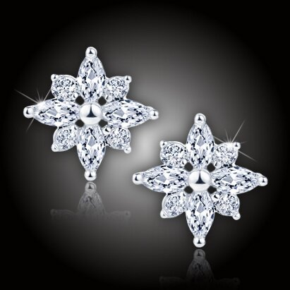 Náušnice La Diamantina Diamond Flower
