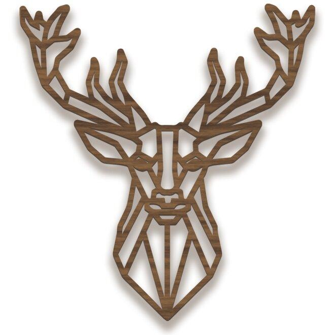 Dřevěný obraz - jelen