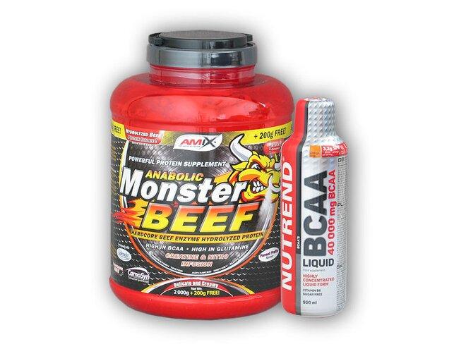 Anabolic Monster BEEF 90% Protein 2200 g + dárek: BCAA Liquid