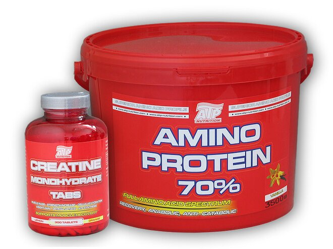 Amino Protein 70%, 3500 g + ATP Creatine Monohydrate, 300 tablet