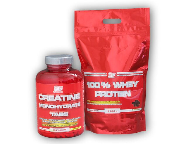 100% Whey Protein, 2000 g + ATP Creatine Monohydrate, 300 tablet