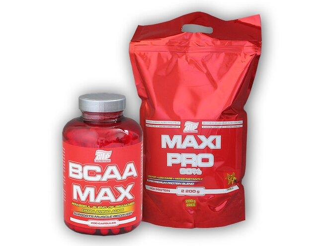 Maxi Pro, 2400 g + BCAA MAX, 200 kapslí