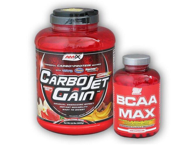 CarboJet Gain 4000 g + + BCAA MAX, 200 kapslí