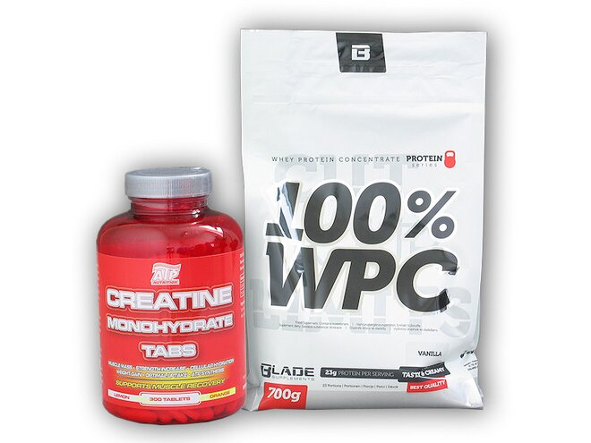 BS Blade 100% WPC Protein 700 g + ATP Creatine Monohydrate 300 tablet