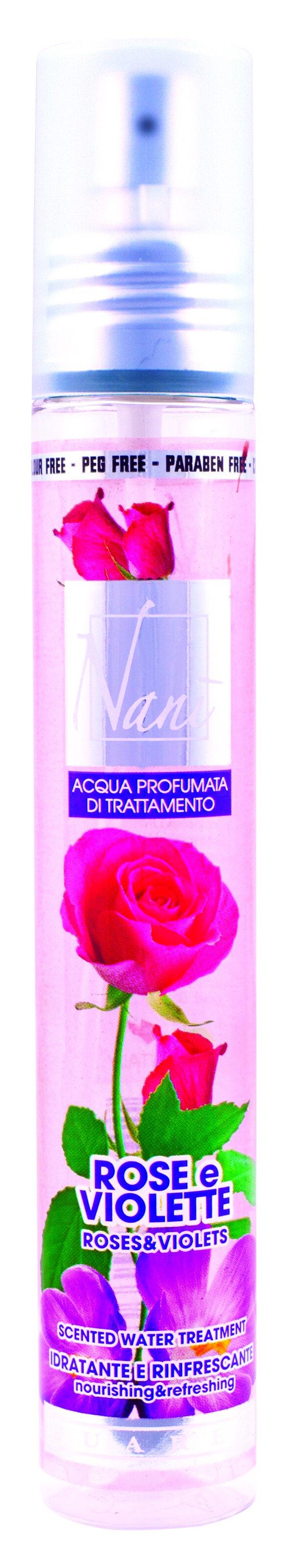 Parfémová voda Nani s přírodní aloe – Růže + fialka