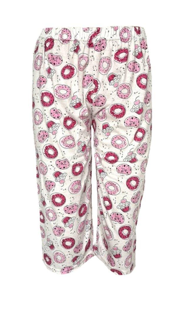 Dámské 3/4 pyžamové kalhoty Donut