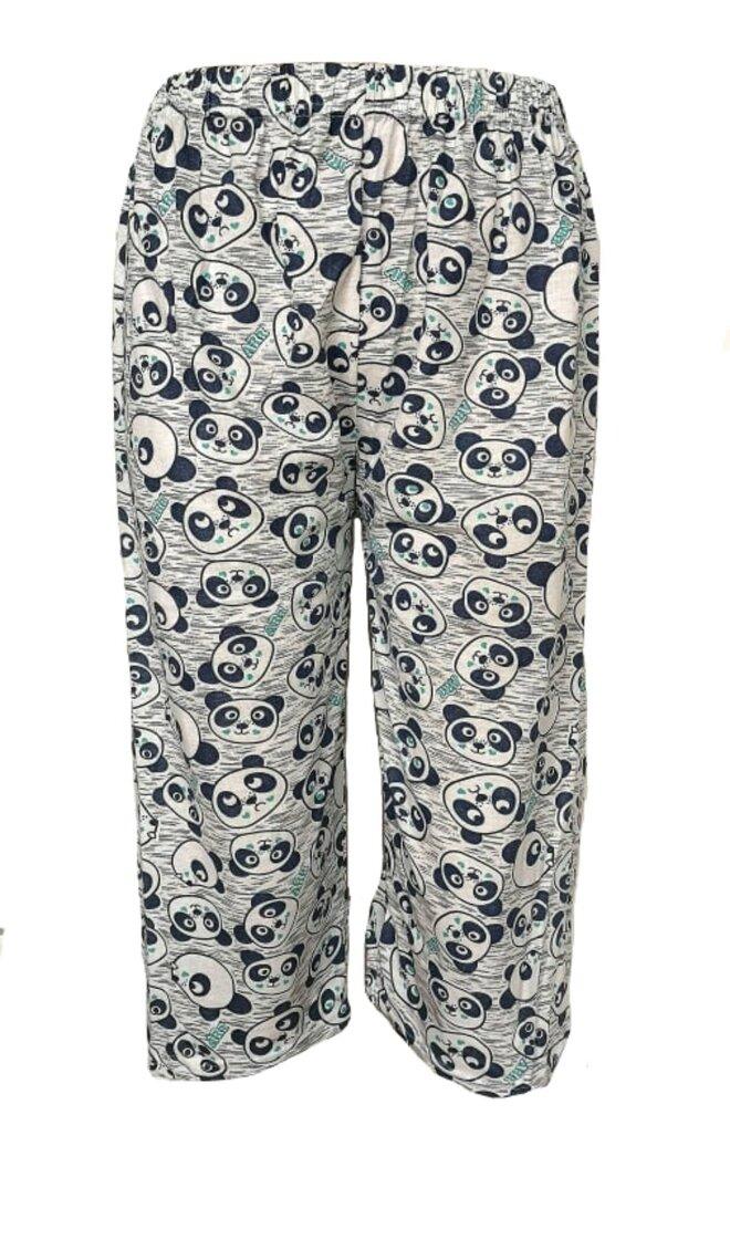 Dámské 3/4 pyžamové kalhoty Panda