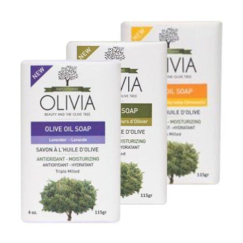 Balíček 3 tuhých mýdel Olivia