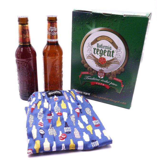 2 piva + trenýrky s lahvemi
