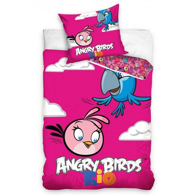 Povlečení Angry Birds Pink 8005